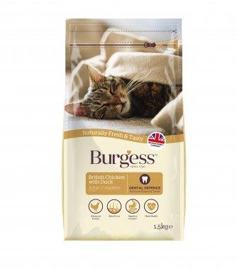 Burgess Cat Food Chicken and Duck 10kg pack